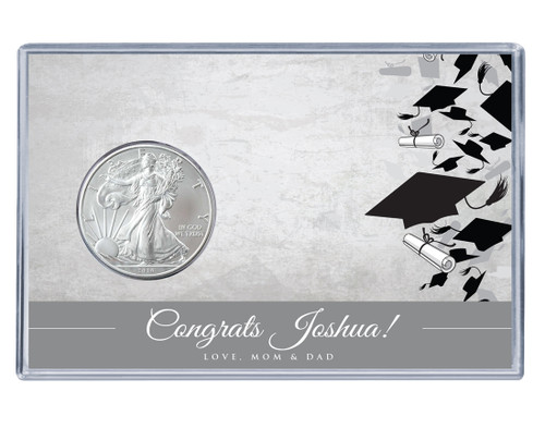 Graduation Silver Eagle Acrylic Display - Design 3