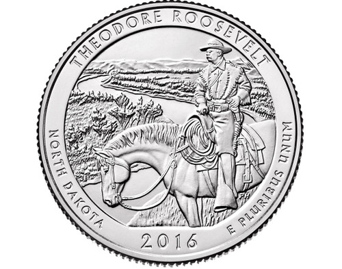 Theodore Roosevelt National Park Quarter D Mint - 2016