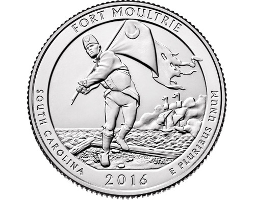 Fort Moultrie (Fort Sumter) National Park Quarter D Mint - 2016