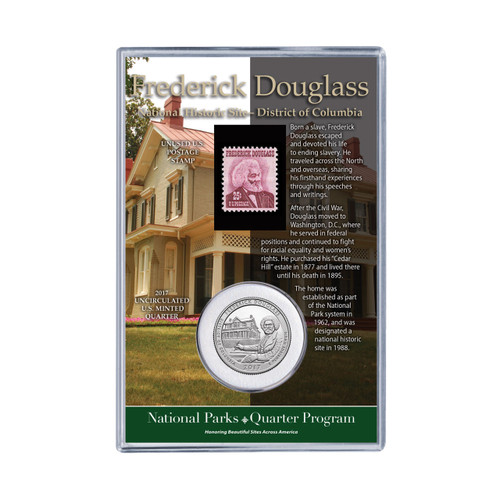 Frederick Douglass National Historical Site Coin & Stamp Set