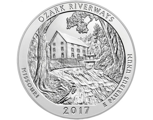 Ozark National Scenic Riverways Quarter D Mint - 2017