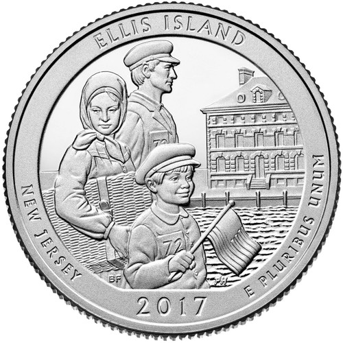 Ellis Island National Monument Quarter D Mint - 2017