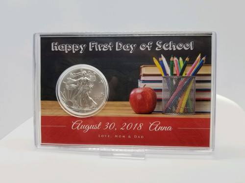 Silver Eagle Acrylic Display-First Day of School