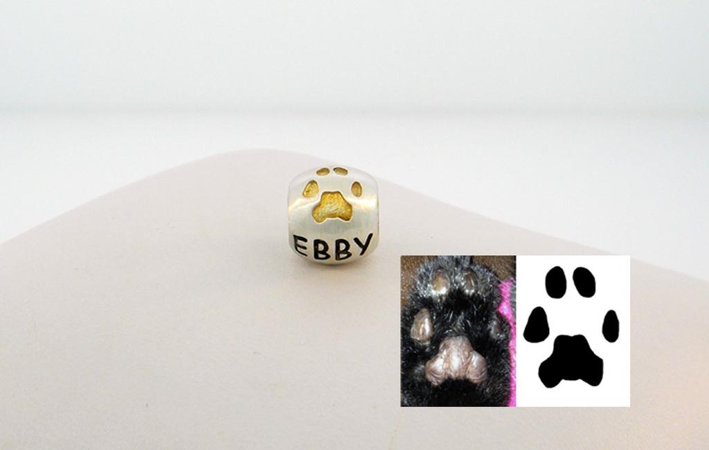 A Custom Paw Bead