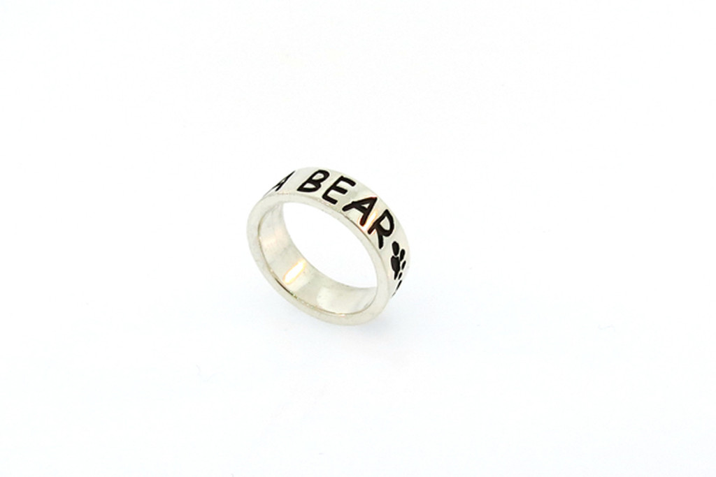 Companion Ring with Recessed Lettering