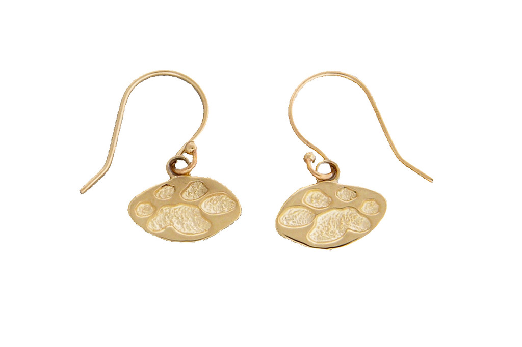 4 Paws Earrings - Single Paw - Gold
