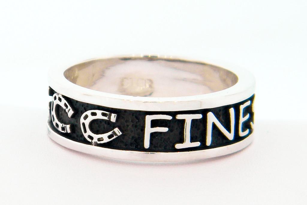 Horseshoe Companion Ring with Raised Details