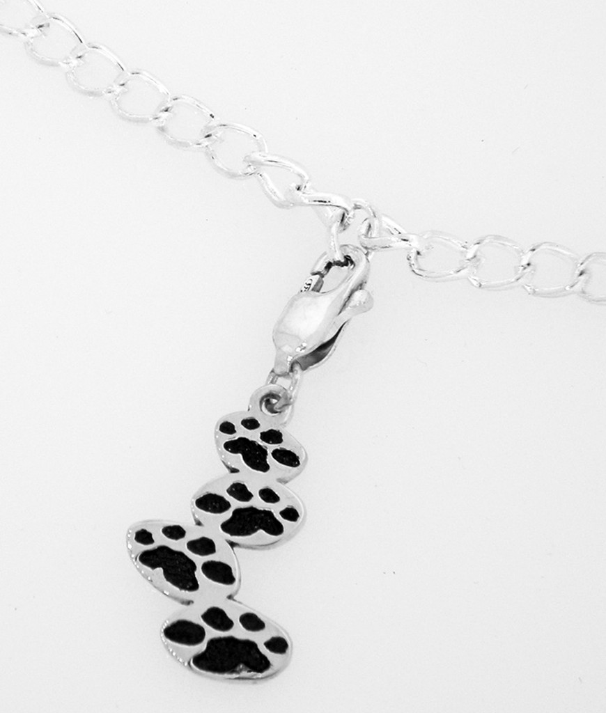 Shown with Black Paws on Optional Charm Bracelet