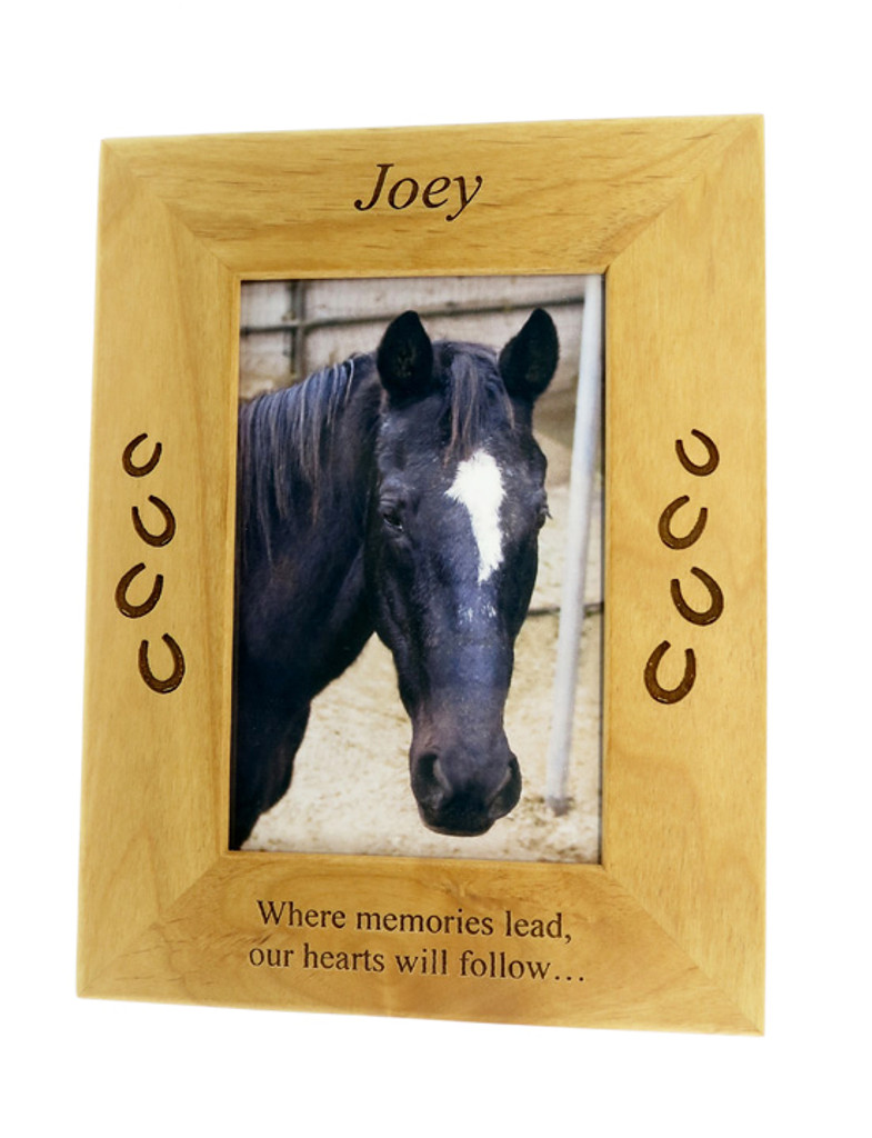 4 Paws Photo Frame - Natural Wood - Horse