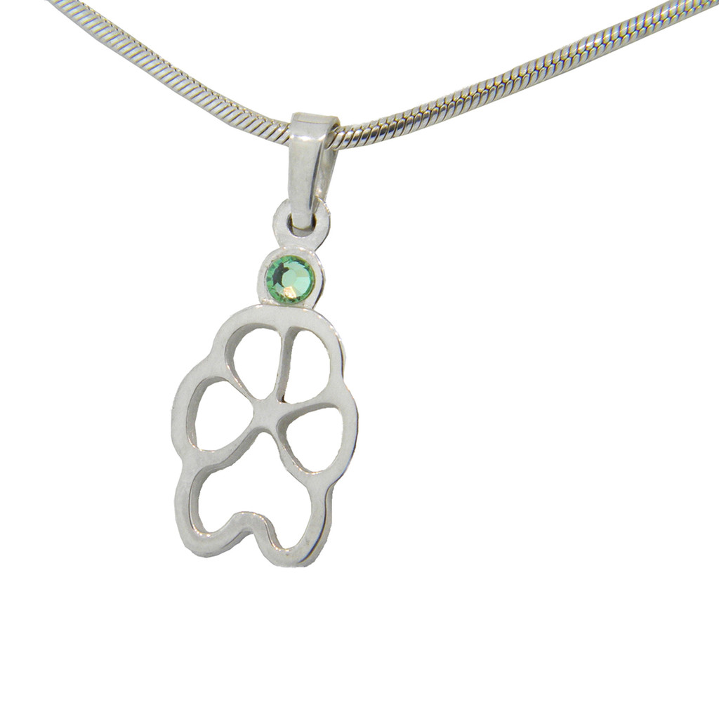 Custom Paw - Silhouette with Crystal
