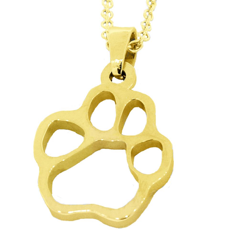 Custom Paw - Silhouette - Gold