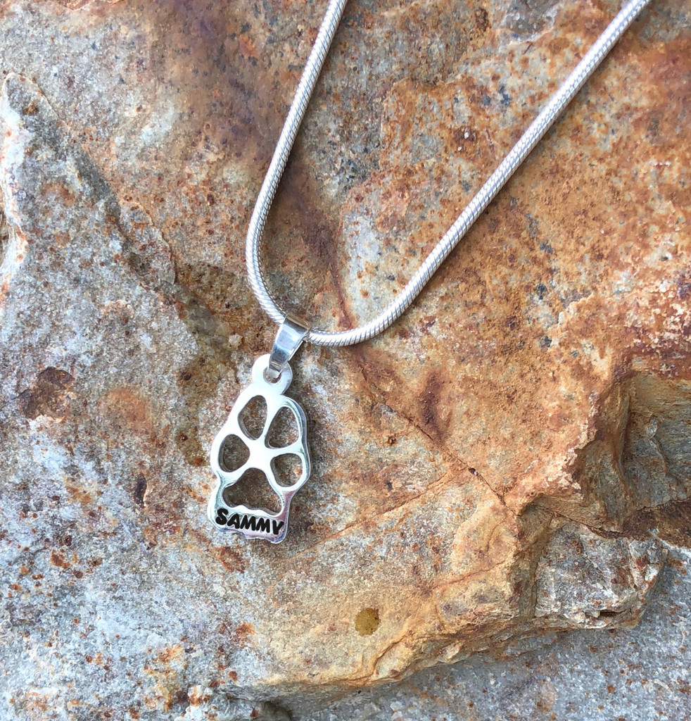 Custom Paw - Silhouette - with Name