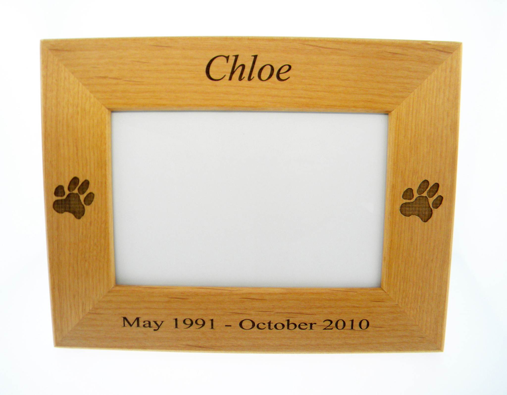 4 Paws Photo Frame - with Custom Paw Print - 4 Paws Forever