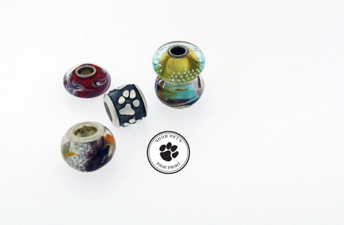 Raised Custom Paw Bead