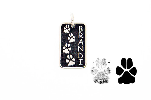 Journey Companion Tag with Custom Paw