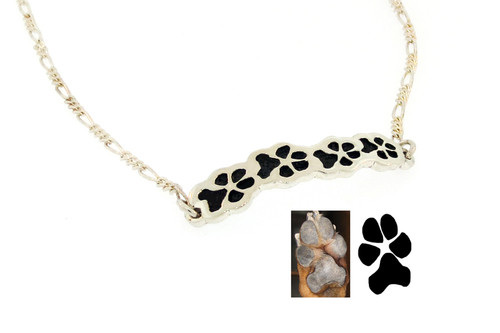 Journey Bracelet with Custom Paws