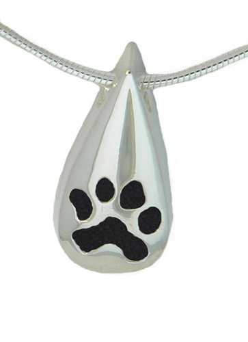 Custom Paw Tear Drop Keepsake without a Bail