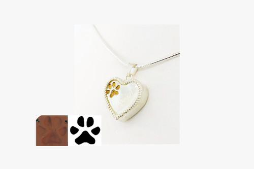 Custom Paw Heart Keepsake with Rope Detail