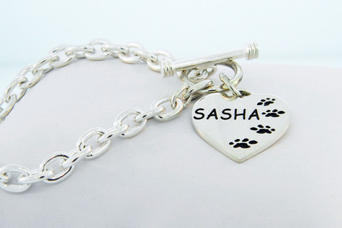 Companion Heart Toggle Bracelet