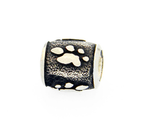 Classic Raised Paw Bead