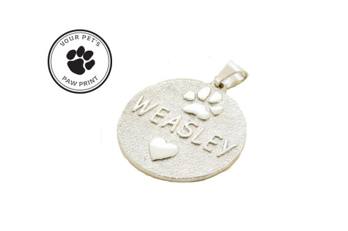 Medallion Pendant with Custom Paw
