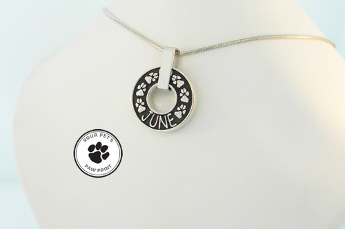 Infinity Keepsake Pendant with Raised Details and Custom Paws