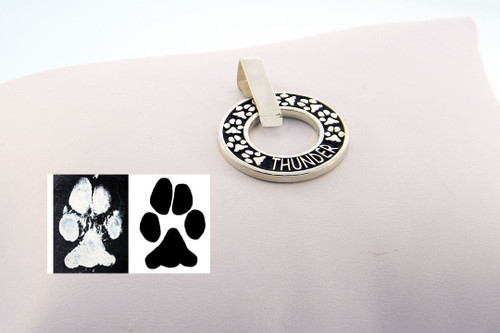 Infinity Pendant with Raised Details and Custom Paw