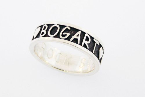 Companion Ring with Raised Lettering
