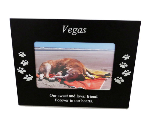 4 Paws Photo Frame - Black Metal