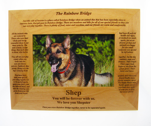 4 Paws Photo Frame - Rainbow Bridge