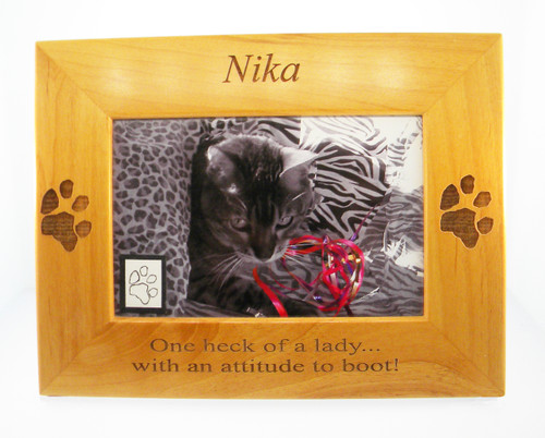 4 Paws Photo Frame - with Custom Paw Print