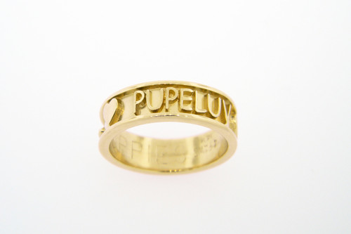 Companion Ring with Raised Lettering - Gold