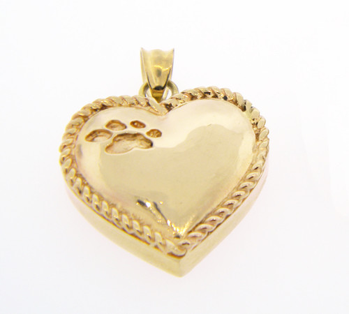 Heart Keepsake with Rope - Gold