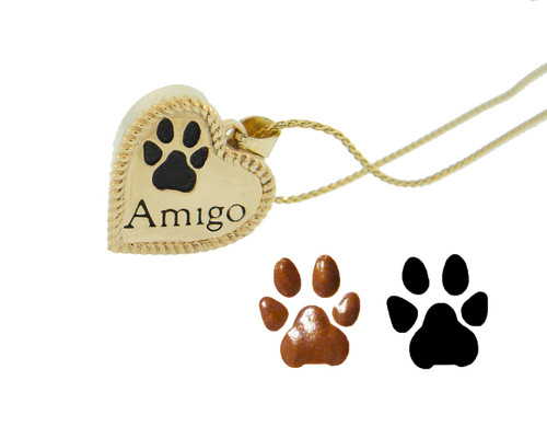 Shown with Custom Paw Print