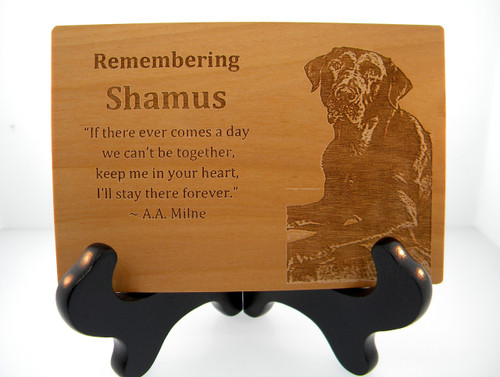 Wood Card - Remembering With Picture