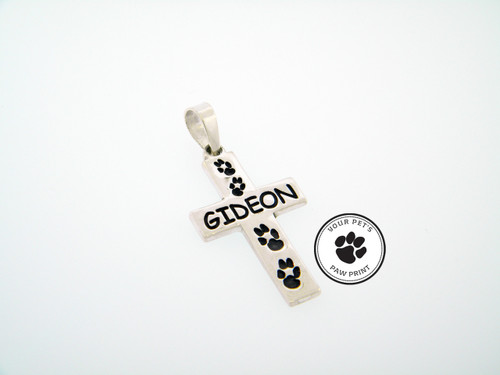 Companion Cross Pendant with Custom Paw