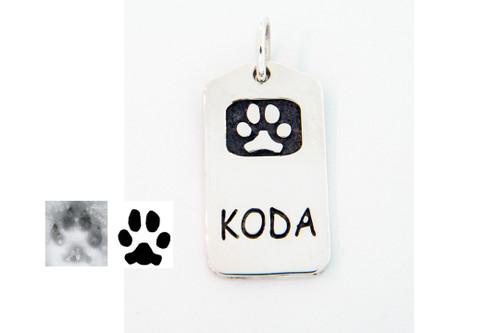 Loyalty Tag with Custom Paw
