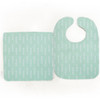Bib & Burp Set - Mini Arrow Heads - Mint