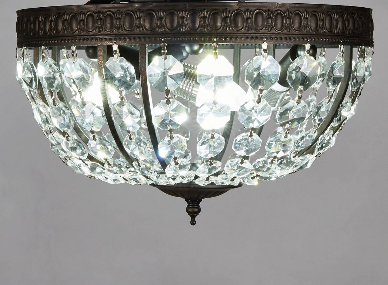 New galaxy lighting antique black metal frame flushmount crystal new galaxy lighting antique black metal frame flushmount crystal chandelier ceiling lamp fixture 132 arubaitofo Choice Image