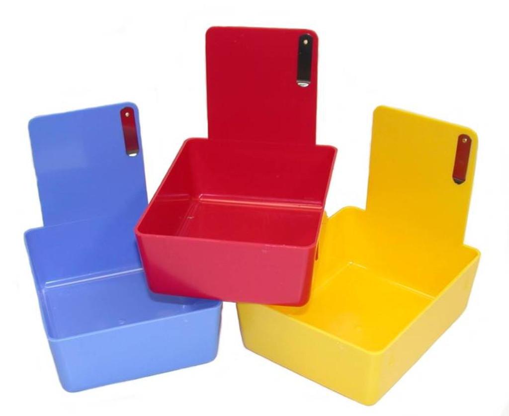 Plastic Model Bins, Yellow (12 pack)
