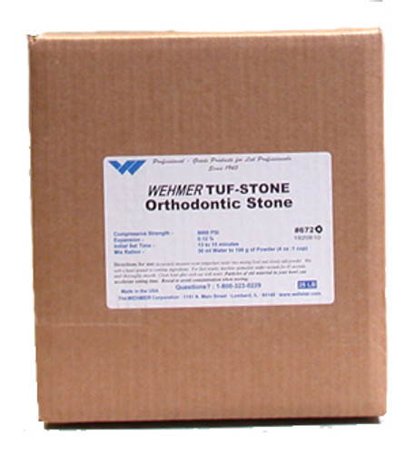 Tuf-Ston White Orthodontic Stone - 25 lbs