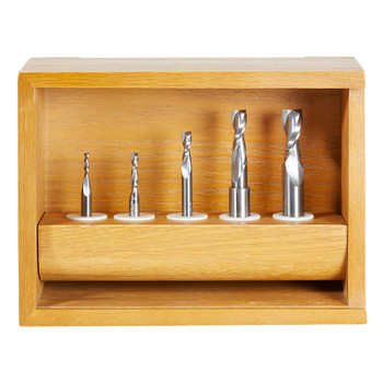 Amana 5-Piece Up-Cut Spiral Router Bit Collection (AMS-120)