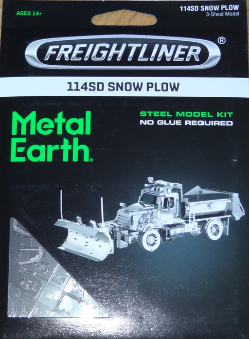 114SD Snow Plow Truck Freightliner Metal Earth