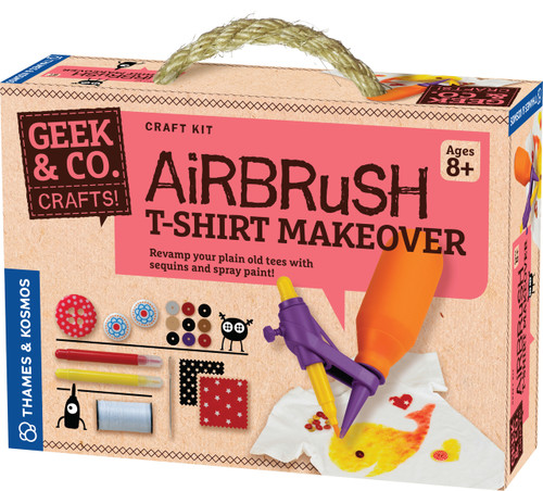 Airbrush T-Shirt Makeover Geek & Co. Crafts!