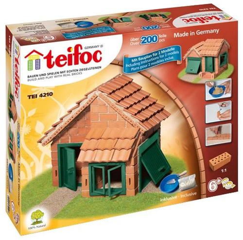 House with Tiled Roof Teifoc Brick & Mortar  Building Kit
