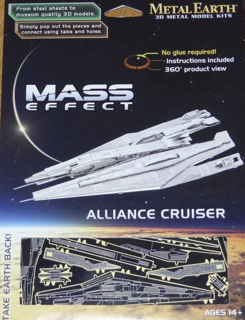 Alliance Cruiser Mass Effect Metal Earth