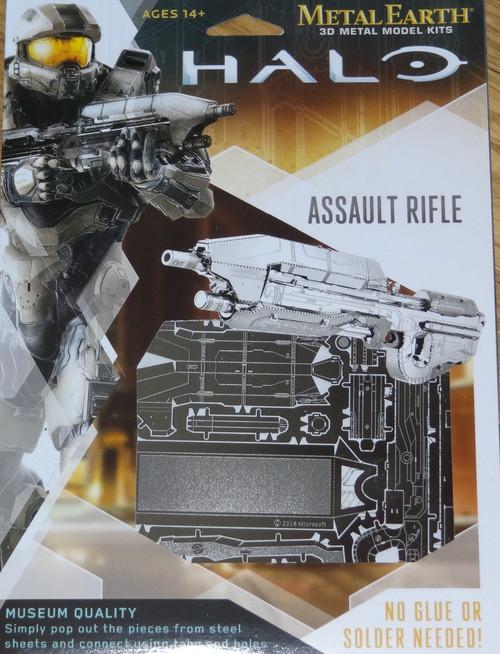 Assault Rifle Halo Metal Earth