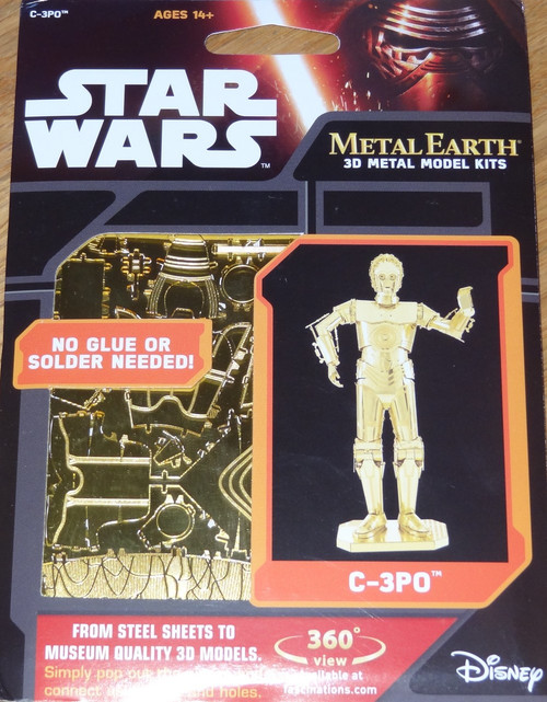 C-3PO Star Wars Metal Earth