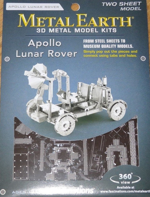 Apollo Lunar Rover Metal Earth