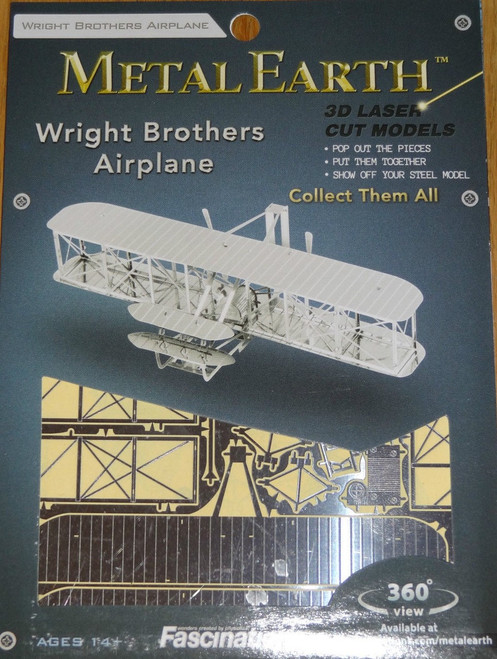 Wright Brothers Airplane Metal Earth